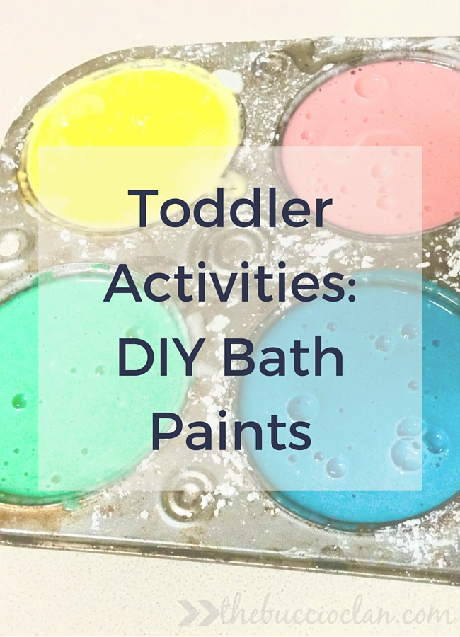 Are you looking for things to do with your toddler now that the cooler weather is settling in? Check out these DIY bath paints for a fun and easy activity!