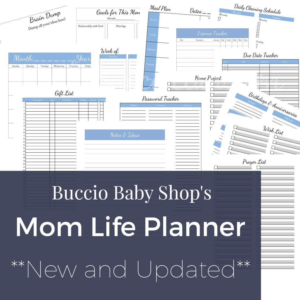 The Mom Life Planner - www.bucciobabyshop.etsy.com